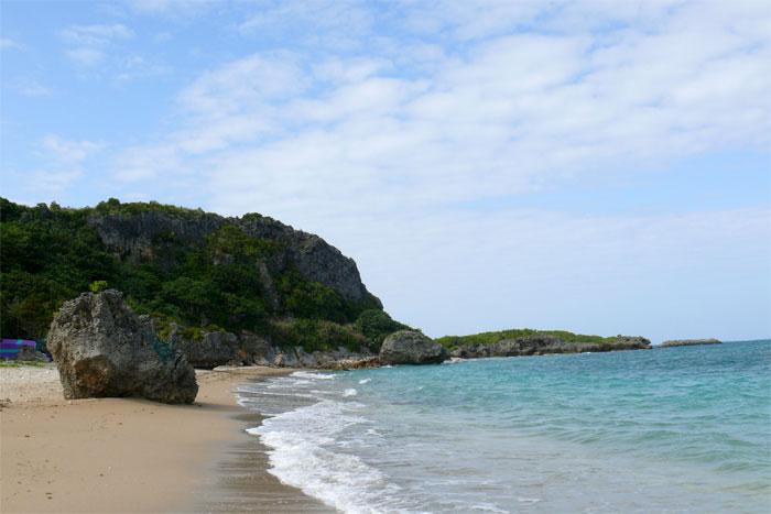 沖縄 浜比嘉島のビーチ