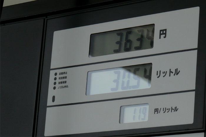 ガソリンスタンドのメーター