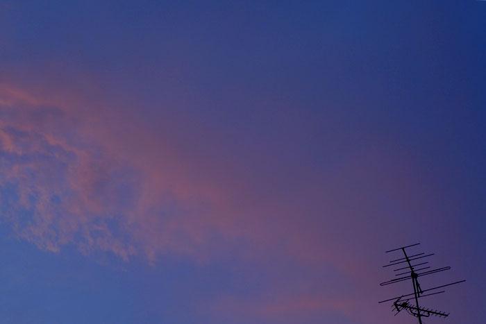 帰り道に見とれた空