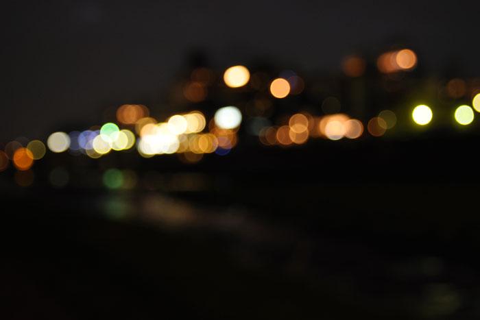 夜のマルボケ