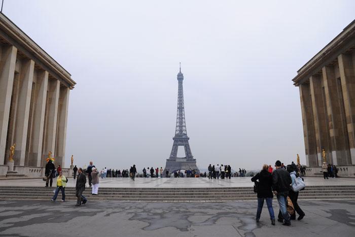 シャイヨー宮から見たエッフェル塔