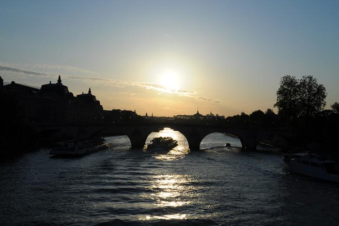 セーヌ川の夕日