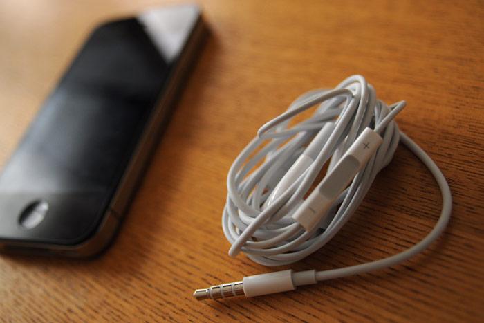 iPhone4のヘッドフォン