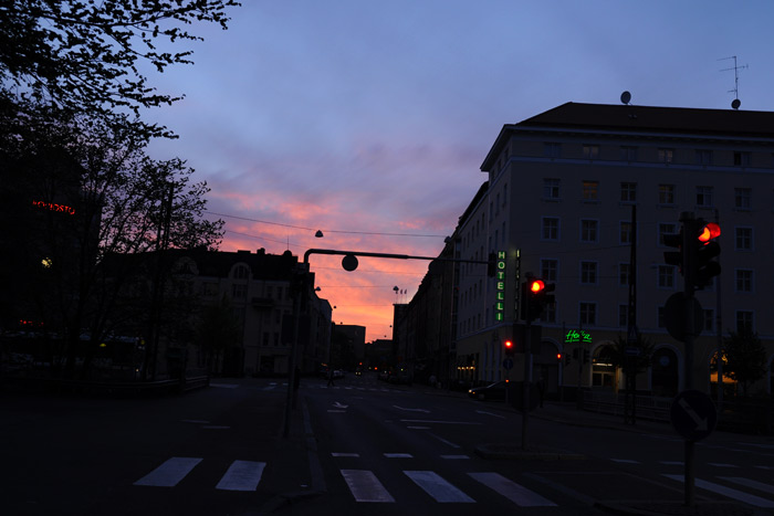 ヘルシンキの夕暮れ
