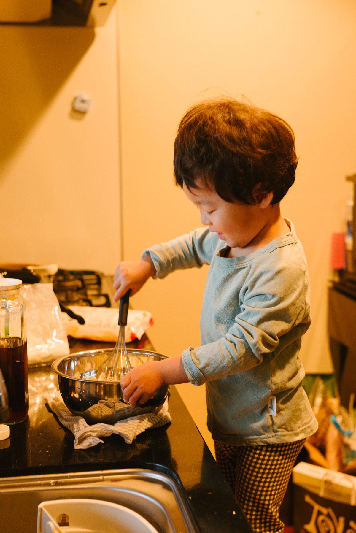 ホットケーキを作る