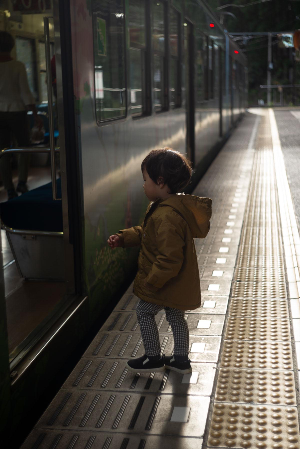 鞍馬駅から叡山電車に乗る