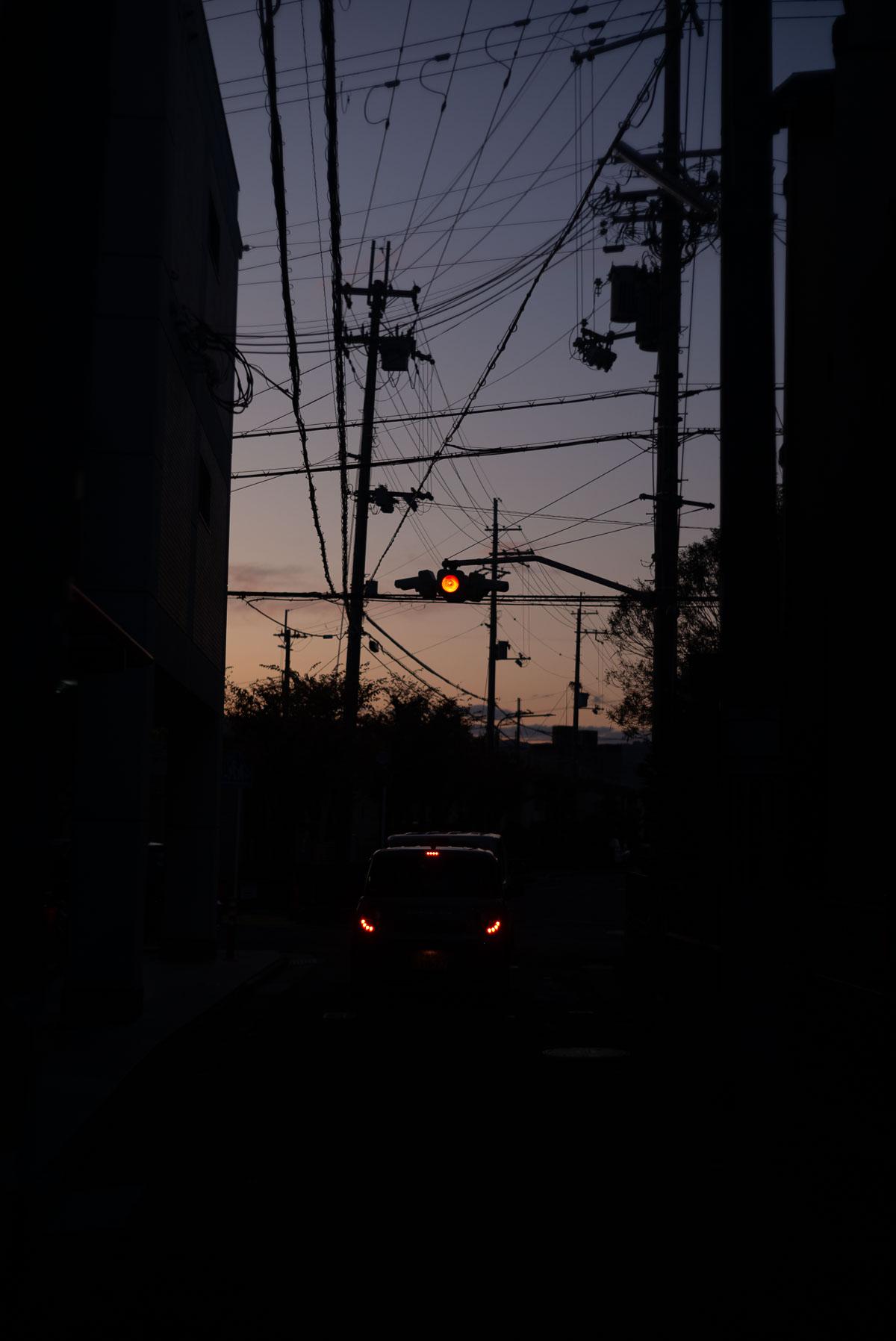 夕暮れ散歩 信号