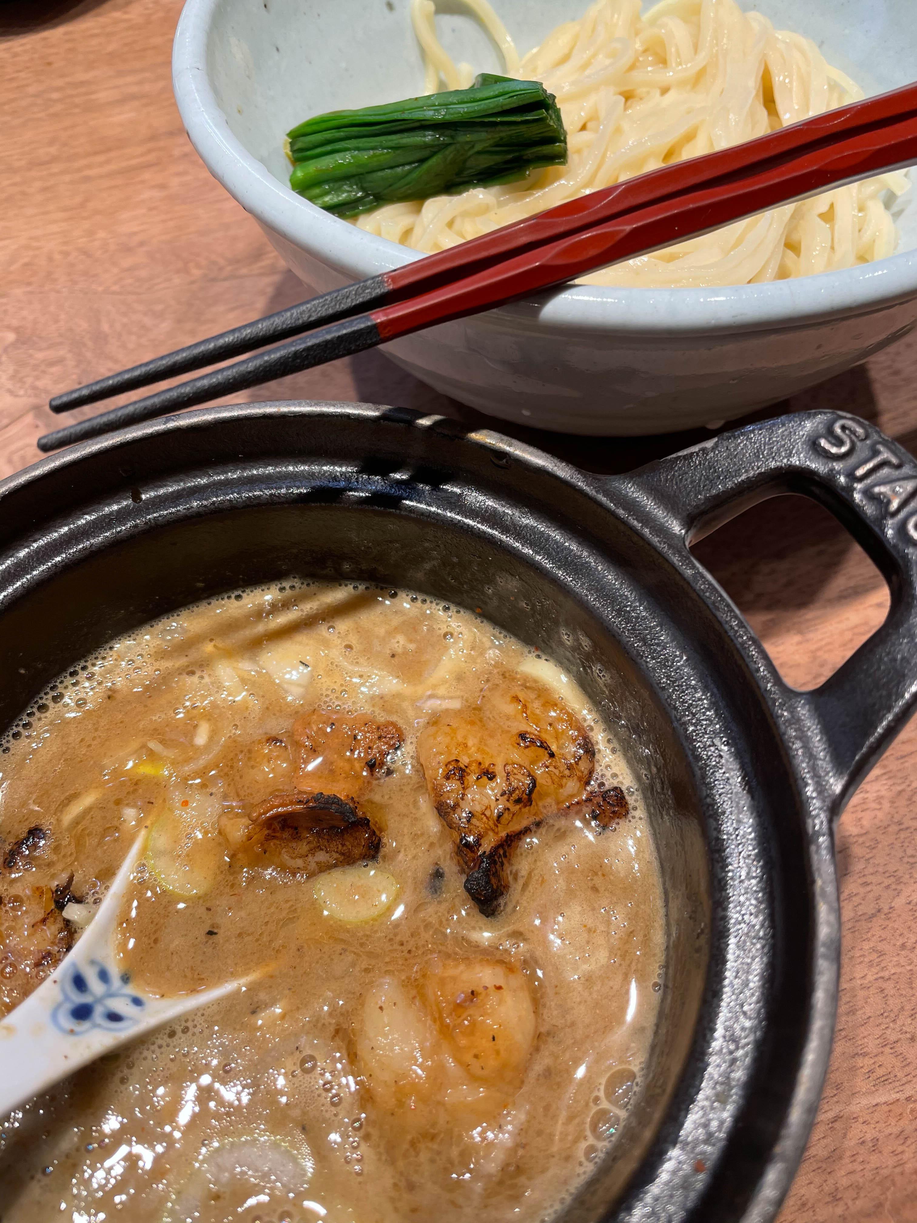 高倉二条 もつ つけ麺(ゆず麺)