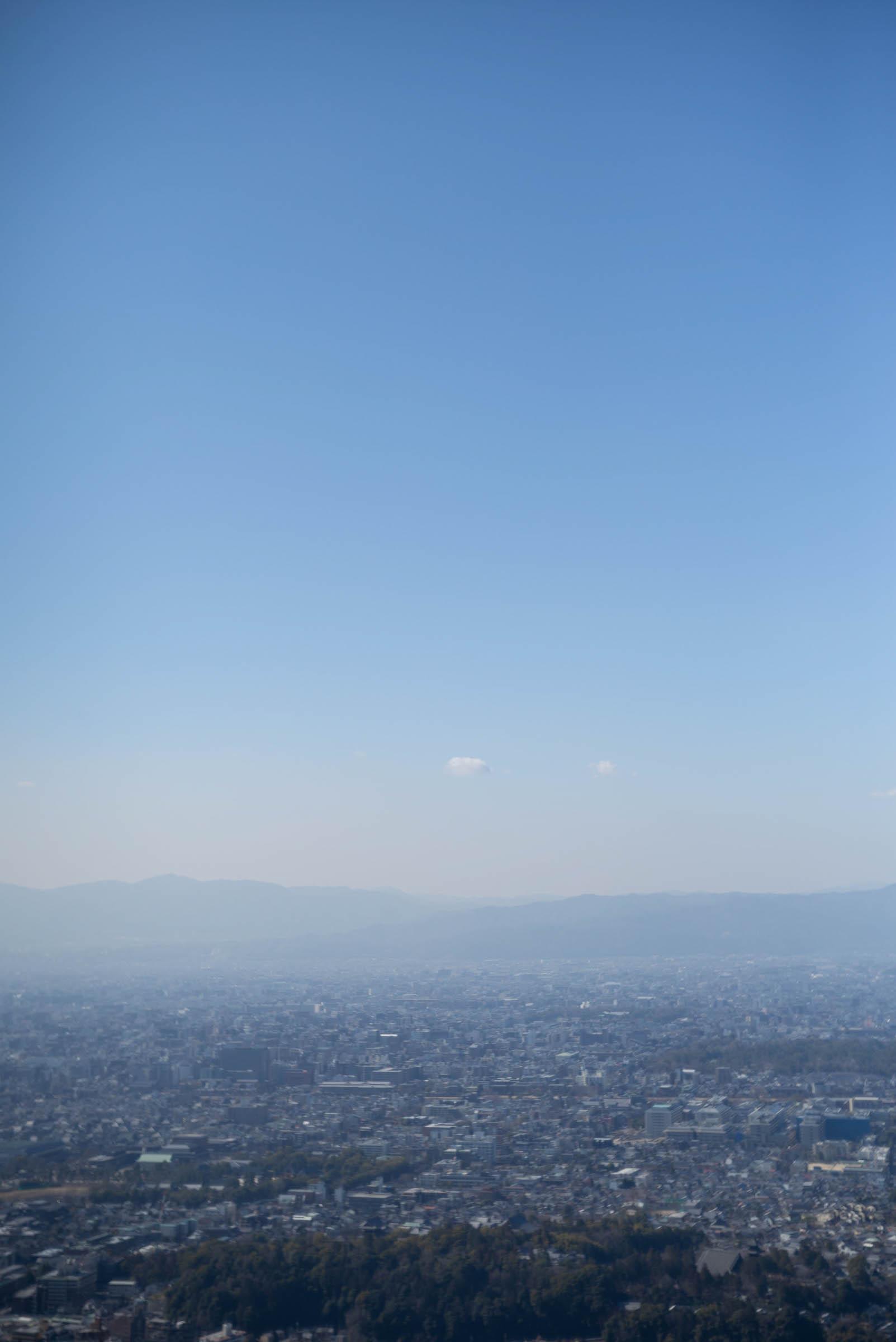 大文字の山頂からの眺め